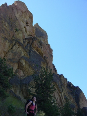 Wherever I May Roam 5.9 Multi-Pitch Sport route at Smith Rock, Oregon