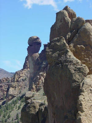 Monky Face as seen from Whereever I May Roam - Smith Rock - Climbing Oregon