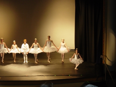 Haley O'Donnell giving a bow at her Christmas Ballet Recital in Eugene, Oregon