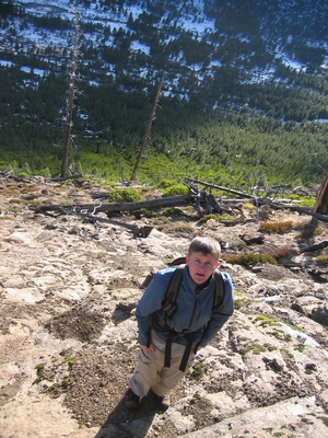 Dane Peterson hiking near Tumalo Falls - Hiking Oregon