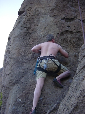 Joel Hass climbing - Meadow Camp - Climbing Oregon