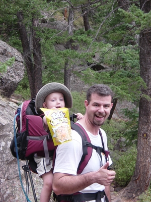 Jay Gorsegnor and Tanis O'Donnell hiking The Royal Arch - Chautauqua Park, Colorado