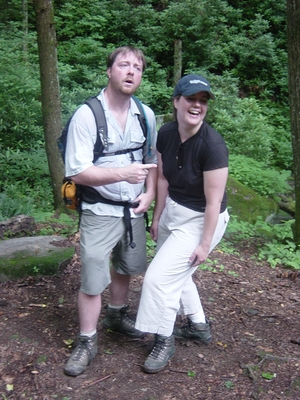 Jody and Linda O'Donnell in the Great Smoky National Park - Hiking Tennessee
