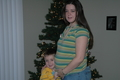 Linda and Tanis ODonnell during Lindas 6 month of pregnancy