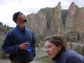 Travis Wiggins and Stephano Manzo at Smith Rock, Oregon